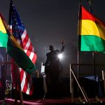 President Barack Obama speaks to the crowd at the departure ceremony at Accra airport in Ghana, July 11, 2009. (Official White House photo by Pete Souza)This official White House photograph is being made available for publication by news organizations and/or for personal use printing by the subject(s) of the photograph. The photograph may not be manipulated in any way or used in materials, advertisements, products, or promotions that in any way suggest approval or endorsement of the President, the First Family, or the White House.