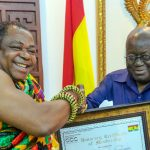 The President of the Ghana Chamber of Commerce and the President of Ghana