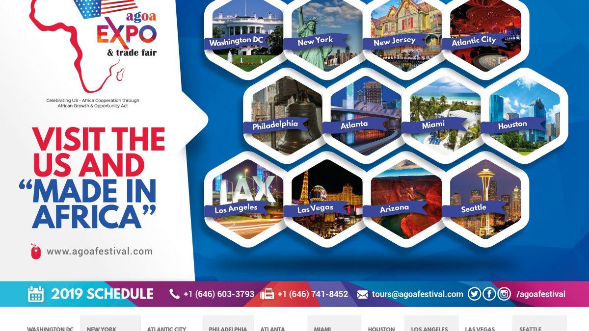 AGOA Expo City Tour Calendar